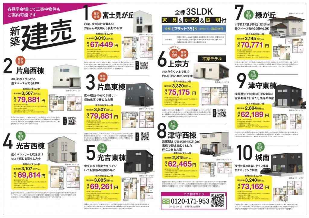 大分市新築建売の情報 チラシ裏面|sakai(サカイ)の家 大分 坂井建設の規格住宅