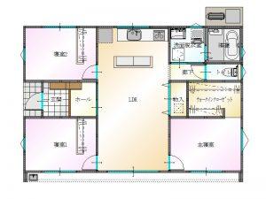 大分市上宗方に建築中の新築建売住宅 間取り|大分の建売住宅 sakaiの家