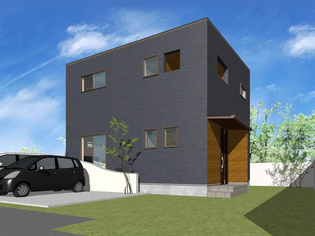 大分市城南 新築建売外観イメージ 大分の建売住宅 sakaiの家