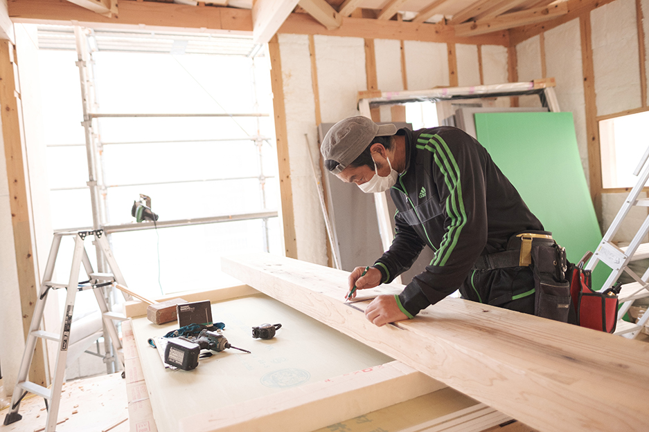 大分市片島建売現場写真|大分の工務店 坂井建設 高性能規格住宅sakaiの家