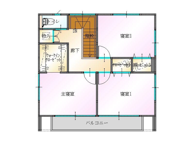 LIFEBOX間取り2階|大分の建売住宅sakaiの家ブログ