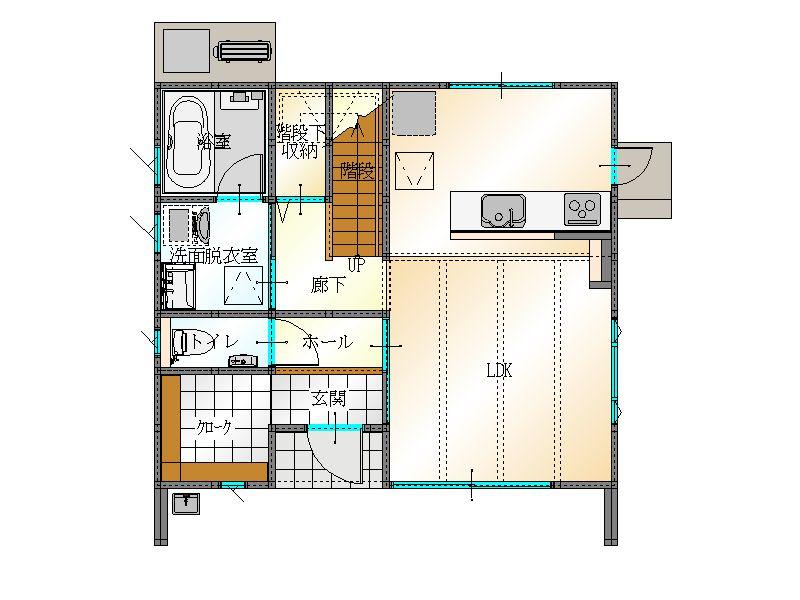 LIFEBOX間取り1階|大分の建売住宅sakaiの家ブログ