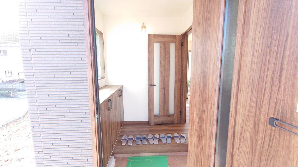 由布市挾間町赤野A棟の玄関の写真